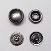 Pearl Cap Ring Snap Button Black Nickle Color