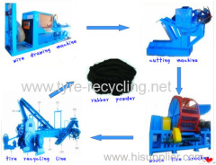 Used tyre recycling line