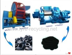 Waste Tyre Shredder Line