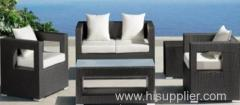 Aluminium frame outdoor furniture wicker sofa set