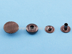 alloy cap spring snap button with brass back parts