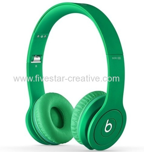 Beats Solo HD On-Ear Monochromatic Headphones Drenched in Green