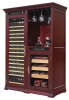 VinBRO Gaint Electric Wooden Wine Cellar Cabinet Cigar Hum-idor Comno in Furniture Digital Control Temperature&Humidity