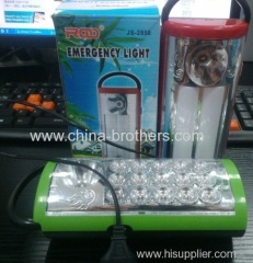 LED emergency lamp rechargeable inside with two style led design