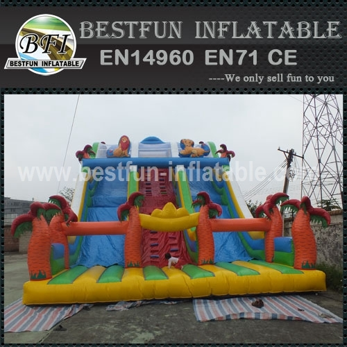 Giant Outdoor Jungle Inflatable Slide