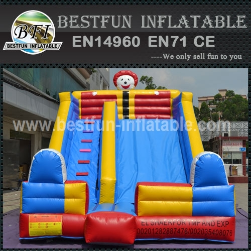 Cartoon Clown Backyard Commercial Inflatable Slide