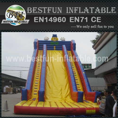 Smiling Clown Commerical Inflatable Slide
