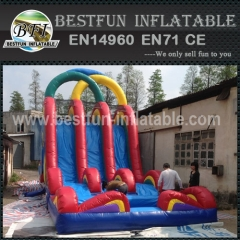 3 Lines Exciting Inflatable Slide with Big Pool