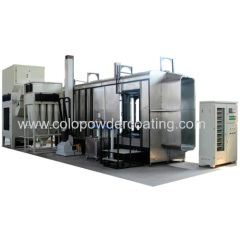 China powder booth system