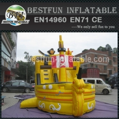 Pirate Ship Bounce House and inflatable slide