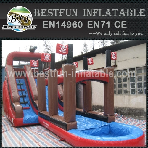 Priate Themed Inflate Water Slide with Pool