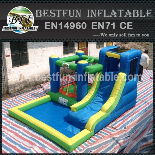 Durable High Quality With Pool And Slide Inflatable Combo