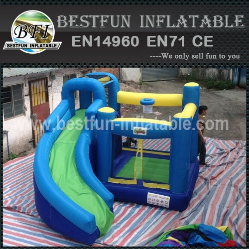 Giant Commercial Grade Inflatable Combo With Curve Slide