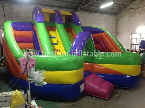2014 Hot Sale Colorful Inflatable Obstacle Course Slide