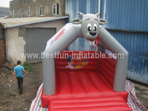Cartoon Goat Bounce House for Supermarket