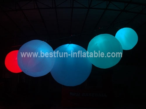 Exhibition Spheres Inflatable Led Lighting