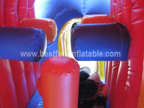 Giant Inflatable Bouncer Combo with Double Line Slide