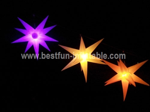 Hanging Inflatable LED Stars and Spheres