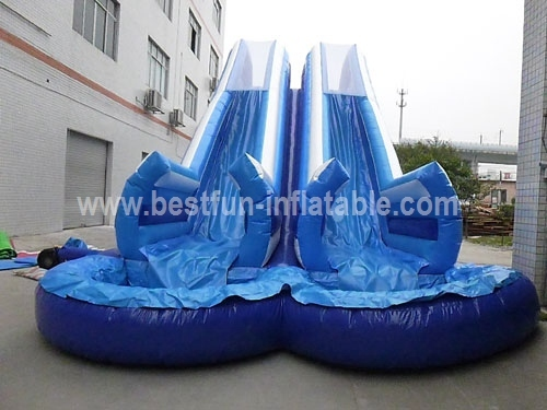 Inflatable Double Tube Water Slide