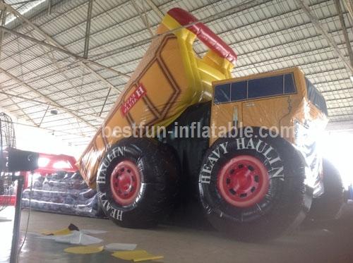 Inflatable Heavy Haulin Dump Truck Slide