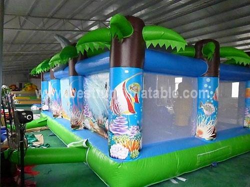 Inflatable Shark Bite Jumper / Bounce House