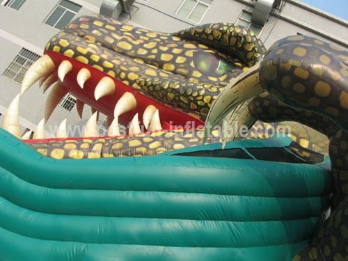 New Giant Print Inflatable Dragon Slides
