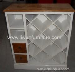 oriental white wine cabinet