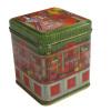 100g square tea tin