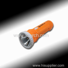 LED plastic torch LED torch rechargeable plastic torch