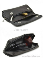 VinBRO Tobacco Pipe Leather Case Pipes Pouch