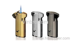 VinBRO Tobacco Pipe Butane Refillable Windproof Gas Metal Pipe Lighters Jet Torch Cigar Lighter 1/2/3/4 Flame Lighters