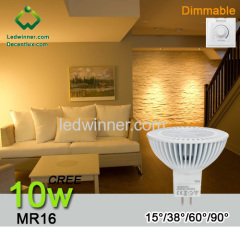 mr16 led dimmable spotlight 10w