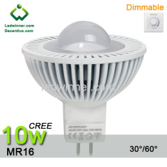 led mr16 dimmable 10w spotlight CREE