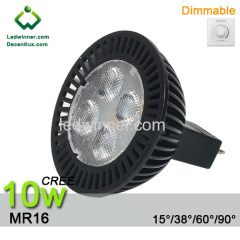 dimmable mr16 led 10w spotlight