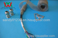 Knitted wire mesh for cable screen