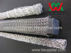 EMI/RFI shielding metal knitted wire mesh tube