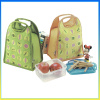 Fashion portable travel lunch box cooler bag for frozen food