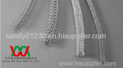 knitted metal wire mesh tube for electromagnetic shielding field