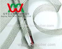 Electromagnetic field shielding knitted metal wire