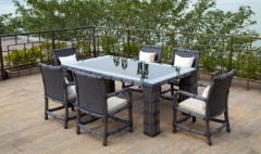 rattan furniture dining-table and chair