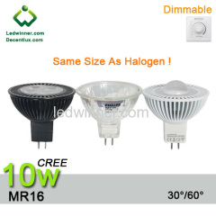 dimmable led mr16 spotlight 10w