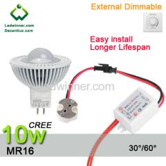 mr16 led bulbs dimmable 10w spotlight