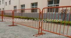 Crowd Control Barrier power coating