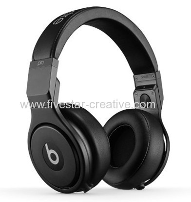 Beats Pro High Performance Professional On Ear Headphone All Black