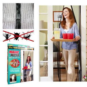 Magic Mesh Magnetic Screen Door/Hands Free Screen Door/Instant Screen Door