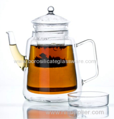 Wholesales high quality double wall glass teapots