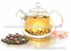 Double Walled Glass teapot with high quality