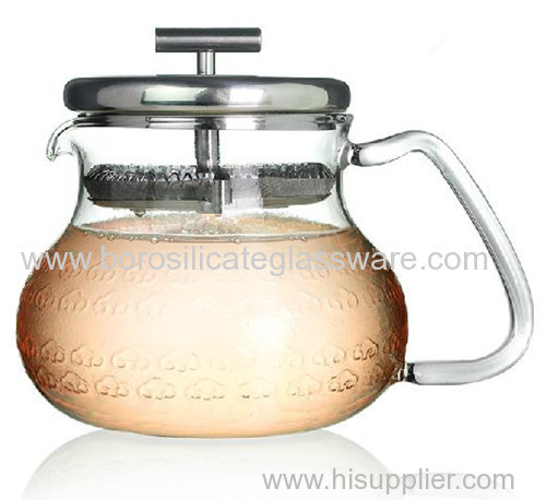 sinlge Wall Glass Teapots with high quality
