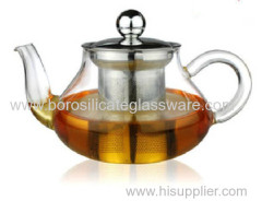 heat resistant single Wall Glass Teapots with infuser