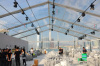 Clear span transparent wedding tent with clear top